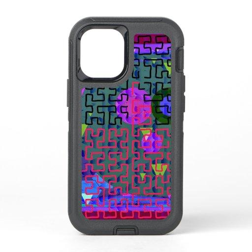 Red Maze OtterBox Defender iPhone 12 Mini Case