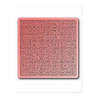 Red Maze Postcard