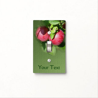 Red McIntosh Apples On Tree Nature Light Switch Cover