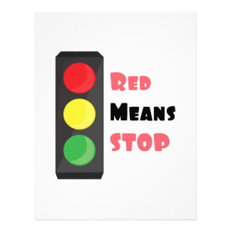 Red Means Stop Customized Letterhead