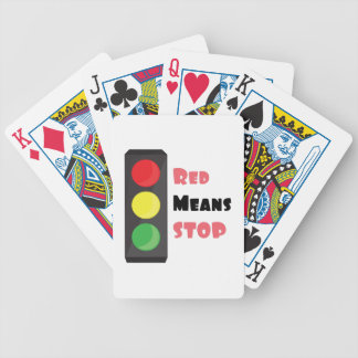 Red Means Stop Bicycle Playing Cards