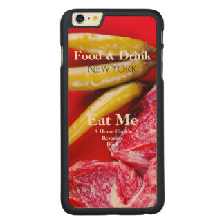 Red Meat & Chilly Pepper Home Cook Book Styled Carved Maple iPhone 6 Plus Slim Case