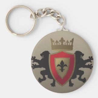 Red Medieval Lion Heraldry Keychain