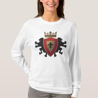 Red Medieval Lion Heraldry Long Sleeve Hoodie