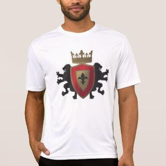 Red Medieval Lion Heraldry Men's Micro Fiber Shirt