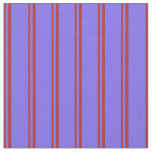 [ Thumbnail: Red & Medium Slate Blue Colored Stripes Fabric ]