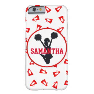 Red Megaphoes and Cheerleader Personalized Barely There iPhone 6 Case