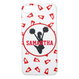 Red Megaphoes and Cheerleader Personalized iPhone 7 Case