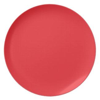 Red Melamine Plate