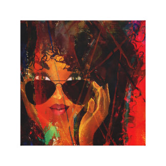 Red MelaninBerry Beauty Canvas Print