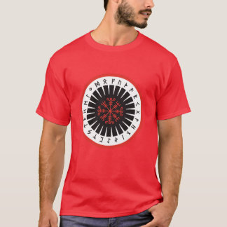 red men's T-shirt with large emblem