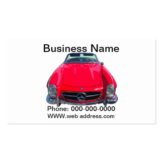 Red Mercedes Benz 300 SL Convertible Business Cards