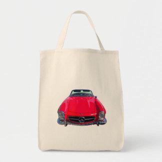 Red Mercedes Benz 300 SL Convertible Tote Bag