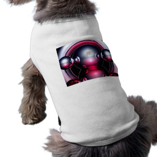 Red Mercury, Abstract Art Pet Shirt