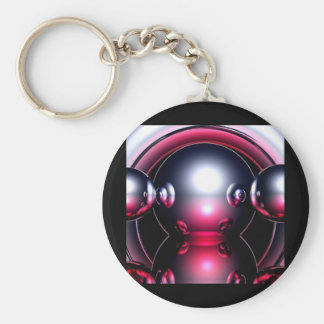 Red Mercury, Abstract Art Keychain