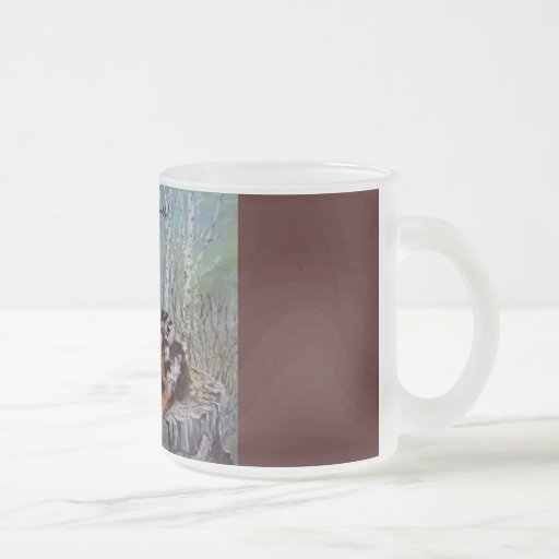 Red Merle Aussie - Beautiful Flower 10 Oz Frosted Glass Coffee Mug