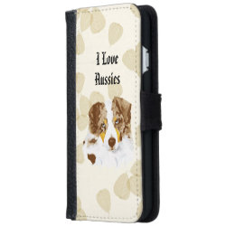 iPhone 6 Wallet Case with Australian Shepherd Phone Cases design