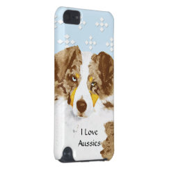 Case-Mate Barely There 5th Generation iPod Touch Case with Australian Shepherd Phone Cases design