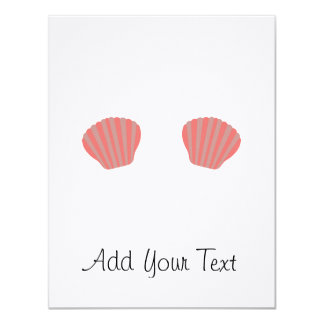Red Mermaid Bikini Card