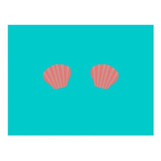 Red Mermaid Bikini Postcard