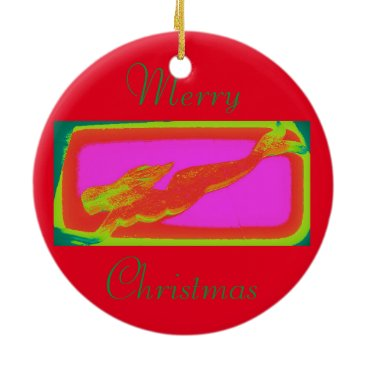 Beach Themed red mermaid customized ceramic ornament