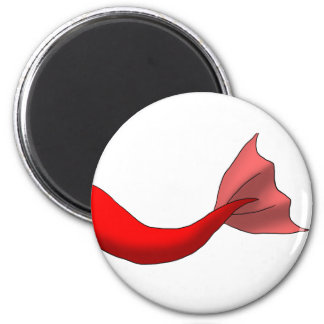 Red Mermaid Tail 2 Inch Round Magnet