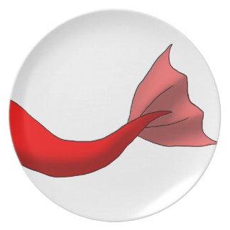 Red Mermaid Tail Dinner Plates