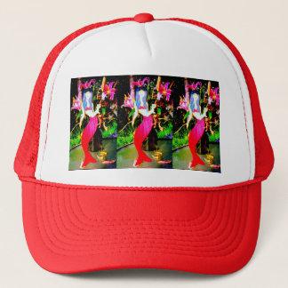 red mermaids partying trucker hat