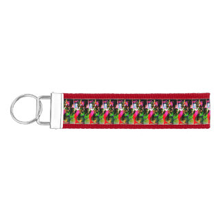 red mermaids partying wrist keychain