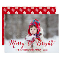 Red Merry and Bright | Holiday Photo Card