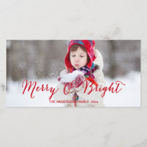 Red Merry and Bright | Modern Holiday Photo Card