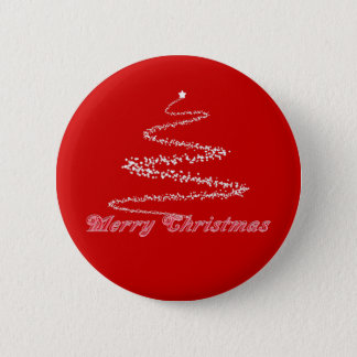 Red Merry Christmas Button