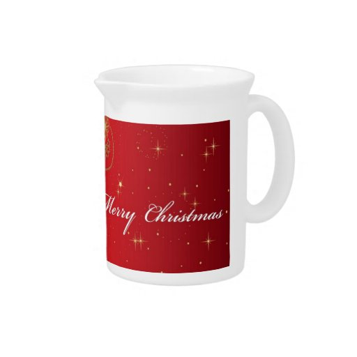Red Merry Christmas Card design Pitcher
