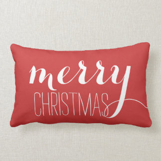 Red Merry Christmas | Holiday Throw Throw Pillow