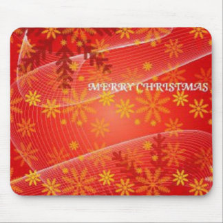 Red Merry Christmas mousepad