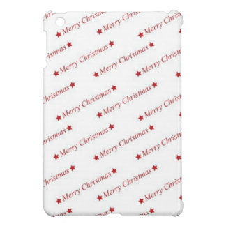 Red Merry Christmas On Whote Background iPad Mini Cases