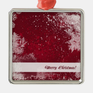 Red Merry Christmas Ornament