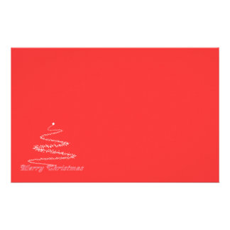 Red Merry Christmas Stationery