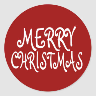 red merry christmas stickers - Merry Christmas Stickers