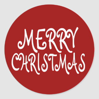 Red Merry Christmas Stickers