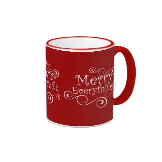 Red Merry Everything Mugs