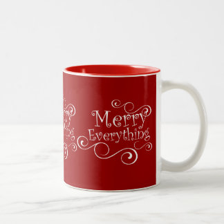 Red Merry Everything Coffee Mugs