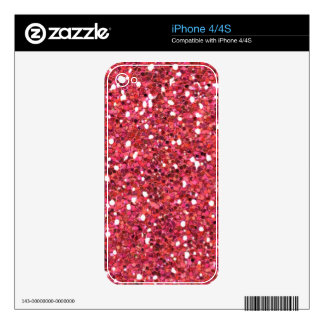 RED merry-glitter DIGITAL BACKGROUND GRAPHICS WALL iPhone 4S Decal