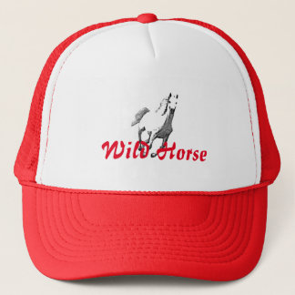 Red Mesh Hat & Wild Horse Drawing
