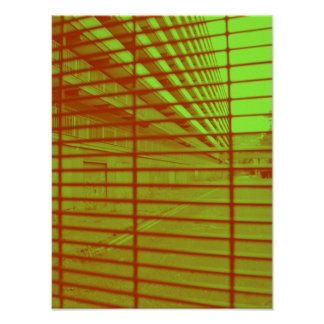 Red Mesh Poster
