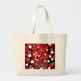 Red mess large tote bag