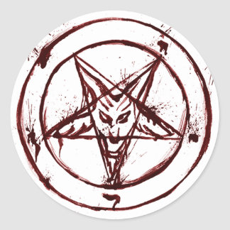 Red Messy Baphomet Stickers
