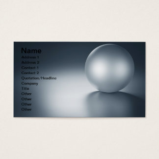 Red Metal Ball Next To Other Metal Balls Business Card