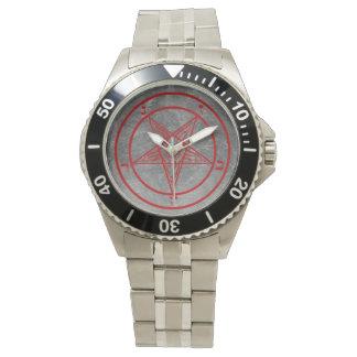 Red Metal Baphomet Watch