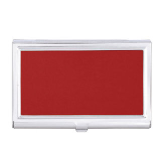 Red Metal Business Card Case
